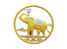 Elephant in tradition Thai style Royalty Free Stock Photography