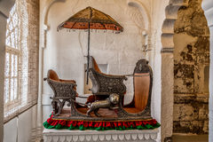 Elephant transport. Mehrangarh fortress in Jodhpur, Rajasthan, India Stock Photography
