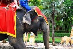 Elephant Trekking. The image of tourist on the elephant in pattaya Thailand Royalty Free Stock Photo