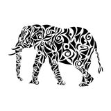 Elephant tribal. Elephant, for tribal tattoo. Black Stock Images