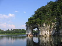 The Elephant Trunk Hill. Is a landmark and tourist attraction in Guilin, Guangxi, China Royalty Free Stock Photos