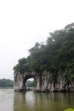 The Elephant Trunk Hill  in GUILIN Royalty Free Stock Photo