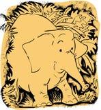 Elephant. Two colour cartoon of an elephant Royalty Free Illustration