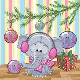 Elephant under the tree Royalty Free Stock Photography
