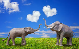 Elephant on Valentine's Day Stock Images