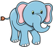 Elephant Vector. Cute Blue Elephant Vector Illustration Royalty Free Stock Photo