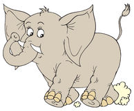 Elephant (vector clip-art) Royalty Free Stock Photography