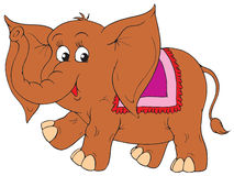 Elephant (vector clip-art) Stock Images