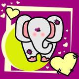 Elephant vector illustration. Elephant vector love illustration composition Stock Illustration