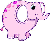 Elephant Vector Illustration. Cute pink Elephant Vector Illustration Royalty Free Stock Image