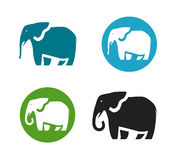 Elephant vector logo. Animals icon or symbol. Isolated on white background Stock Image