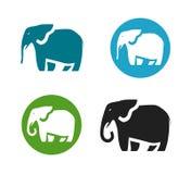 Elephant vector logo. Animals icon or symbol Stock Image