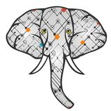 Elephant vector. For wallpaper wall Stock Image