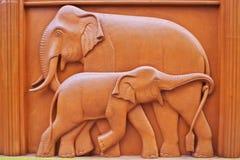 Elephant wall Stock Photography