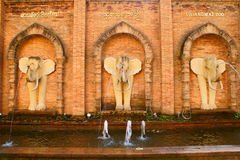 Elephant wall. This is a elephant wall in Chiang Mai Zoo royalty free stock photo