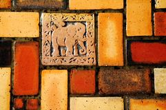 Elephant wall ornament Stock Images