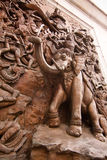 Elephant wall sculpture in Trimit temple Stock Photo