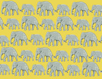 Elephant Wallpaper. Cute elephant mother and baby wallpaper design royalty free illustration