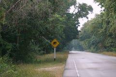 Elephant warning signed Royalty Free Stock Image