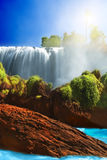 Elephant waterfall royalty free stock photo
