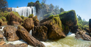 Elephant waterfall in Vietnam panorama Royalty Free Stock Photography