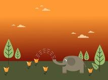 Elephant watering flower Royalty Free Stock Photo