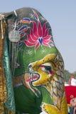 Elephant Wearing Make-Up Stock Image