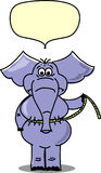 Elephant were measured,vector. Elephant were measured on how much he lost, vector illustration picture Stock Photo