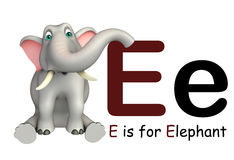Elephant wild animal with alphabate Stock Photos