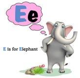 Elephant wild animal with alphabate Stock Photo