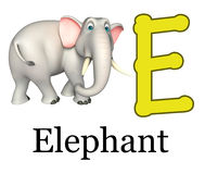 Elephant wild animal with alphabet  Stock Photos