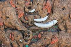 Elephant Wood Carving. Royalty Free Stock Photo