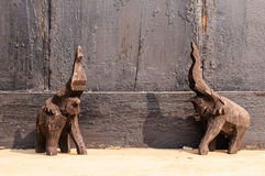 Elephant wood carving. Wooden elephant carving  from Thailand Royalty Free Stock Image