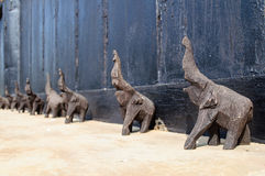 Elephant wood carving. Wooden elephant carving  from Thailand Royalty Free Stock Photos