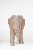 Elephant wood carving. Wooden elephant carving  with white background Royalty Free Stock Photography