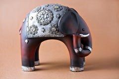 Elephant wood toy Royalty Free Stock Image