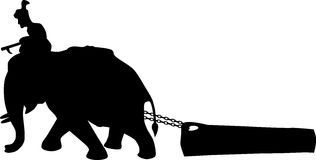 Elephant working Royalty Free Stock Photo