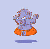 Elephant yoga Royalty Free Stock Image