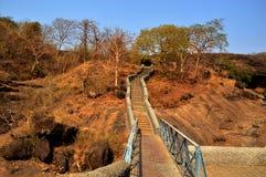 Elephanta海岛在印度使孟买陷下 免版税图库摄影