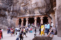 Elephanta caves, Mumbai Royalty Free Stock Photos