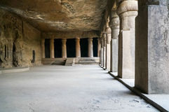 Elephanta caves temple Stock Photo