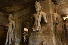 Elephanta grottor Arkivbild