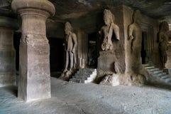 Elephanta grottor Royaltyfria Foton