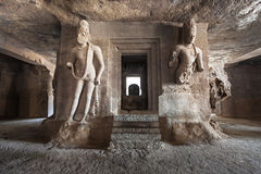 Elephanta Island caves Stock Photos