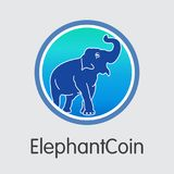 Elephantcoin Digital Currency. Vector ELP Graphic Symbol. Royalty Free Stock Photo