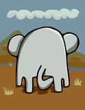 Elephantidae Posterior Royalty Free Stock Image