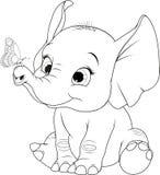 Elephantn divertido del niño libre illustration