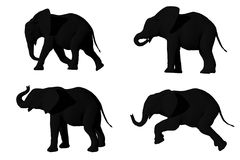 Elephants. A 3D render of elephants Royalty Free Stock Photos