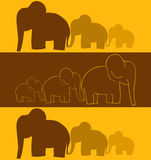 Elephants. Vector Elephants Seamless Background Illustration Royalty Free Stock Images