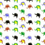 Elephants background Stock Photos